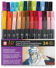 COMPRAR SET 24 ROTULADORES KOI COLORING BRUSH PEN