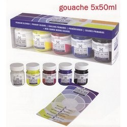 Tempera gouache Talens extra fina 5 uds. 50ml colores primarios
