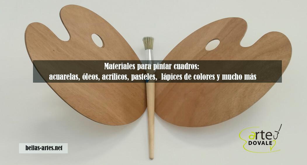materiales usados en la pintura
