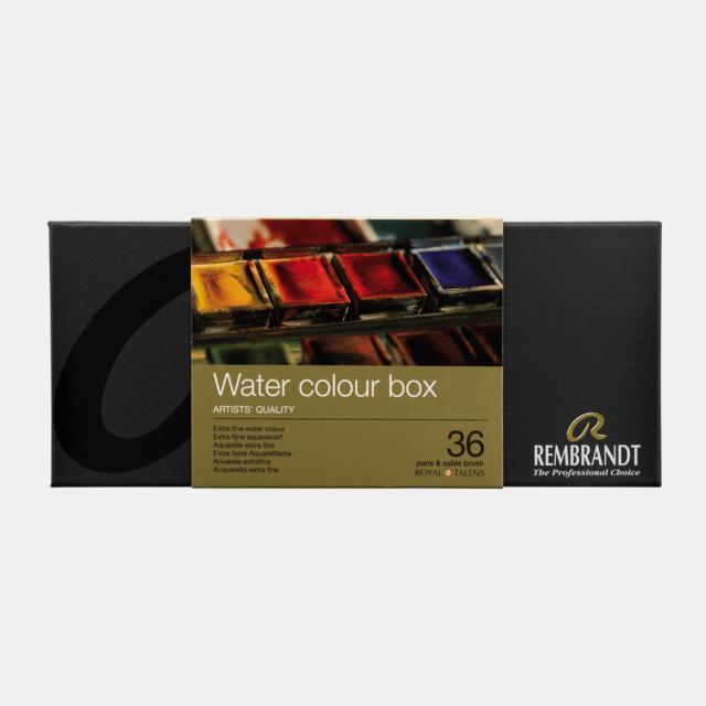 REMBRANDT ESTUCHE METAL 36 PANS